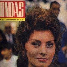 Cinéma: REVISTA ONDAS - Nº 214 - 1961 - PORTADA SOFIA LOREN. Lote 41513014