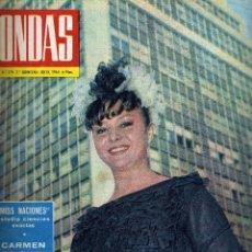 Cine: REVISTA ONDAS - Nº 279 - 1964 - PORTADA MARUJA DIAZ. Lote 41513055