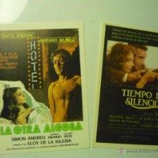 Cine: LOTE PROGRAMAS MODERNOS CINE ESPAÑOL TIEMPO DE SILENCIO-LA OTRA ALCOBA. Lote 41689586