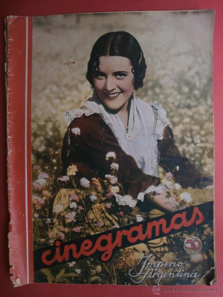CINEGRAMAS Nº81.1936.IMPERIO ARGENTINA.ANA PAVLOVA,RICARDO NUÑEZ,MARY-LOLI HIGUERAS,MARLENE DIETRICH (Cine - Revistas - Cinegramas)