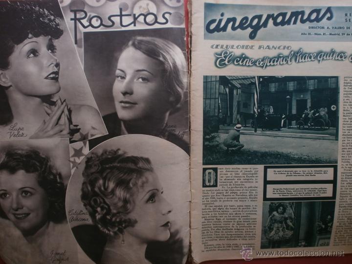 Cine: CINEGRAMAS Nº81.1936.IMPERIO ARGENTINA.ANA PAVLOVA,RICARDO NUÑEZ,MARY-LOLI HIGUERAS,MARLENE DIETRICH - Foto 2 - 41727212