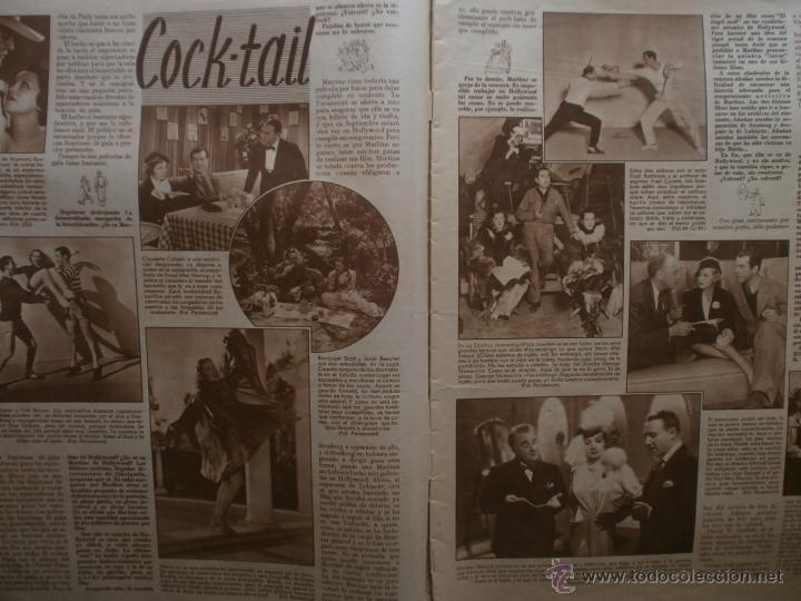 Cine: CINEGRAMAS Nº81.1936.IMPERIO ARGENTINA.ANA PAVLOVA,RICARDO NUÑEZ,MARY-LOLI HIGUERAS,MARLENE DIETRICH - Foto 3 - 41727212
