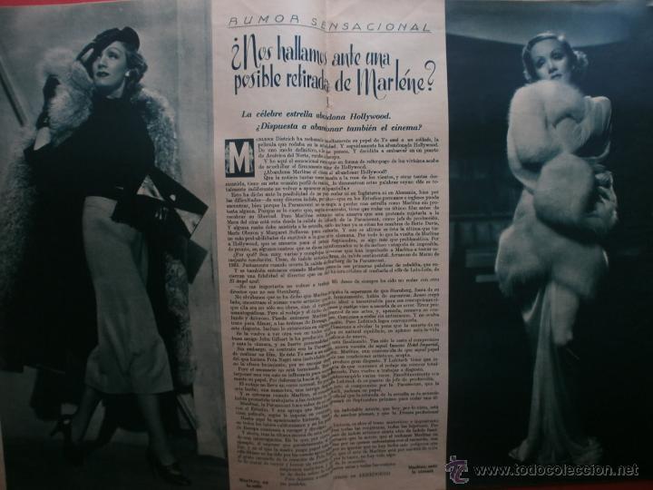 Cine: CINEGRAMAS Nº81.1936.IMPERIO ARGENTINA.ANA PAVLOVA,RICARDO NUÑEZ,MARY-LOLI HIGUERAS,MARLENE DIETRICH - Foto 10 - 41727212