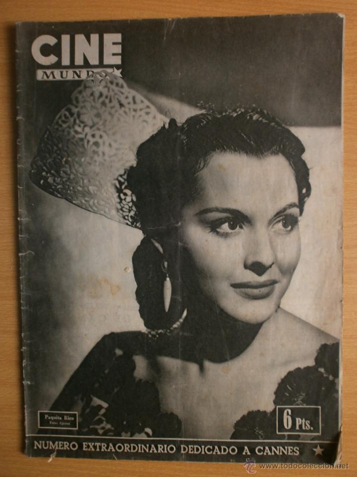CINE MUNDO Nº12 EXTRAORDINARIO DEDICADO A CANNES.1952.PAQUITA RICO.LOUIS JOURDAN,HUMPHREY BOGART. (Cine - Revistas - Cine Mundial)