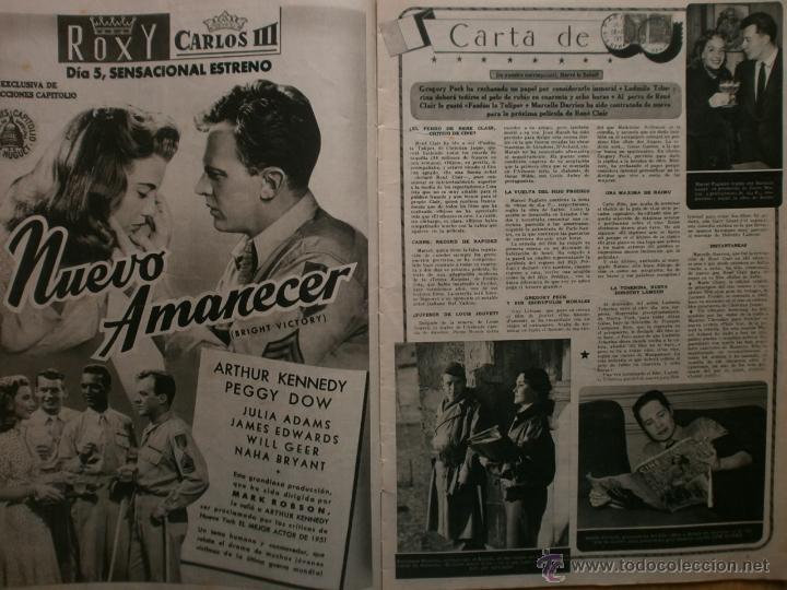 Cine: CINE MUNDO Nº12 EXTRAORDINARIO DEDICADO A CANNES.1952.PAQUITA RICO.LOUIS JOURDAN,HUMPHREY BOGART. - Foto 4 - 41796331