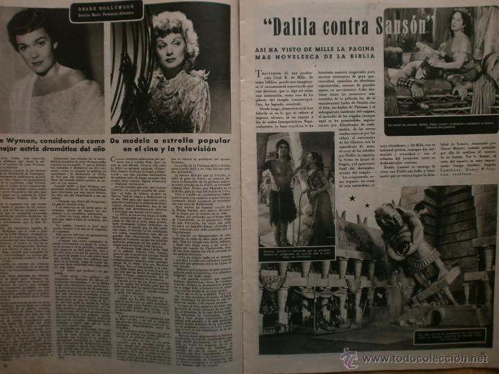 Cine: CINE MUNDO Nº12 EXTRAORDINARIO DEDICADO A CANNES.1952.PAQUITA RICO.LOUIS JOURDAN,HUMPHREY BOGART. - Foto 5 - 41796331