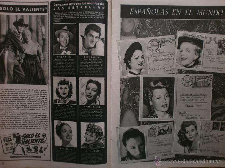 Cine: CINE MUNDO Nº12 EXTRAORDINARIO DEDICADO A CANNES.1952.PAQUITA RICO.LOUIS JOURDAN,HUMPHREY BOGART. - Foto 6 - 41796331