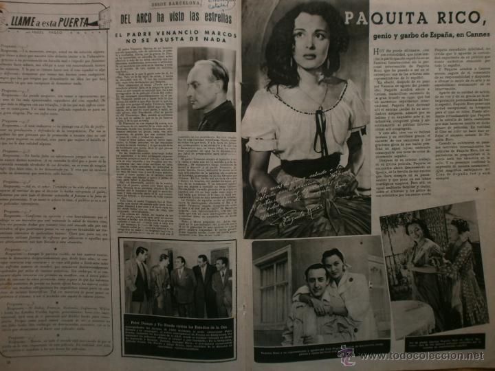 Cine: CINE MUNDO Nº12 EXTRAORDINARIO DEDICADO A CANNES.1952.PAQUITA RICO.LOUIS JOURDAN,HUMPHREY BOGART. - Foto 9 - 41796331