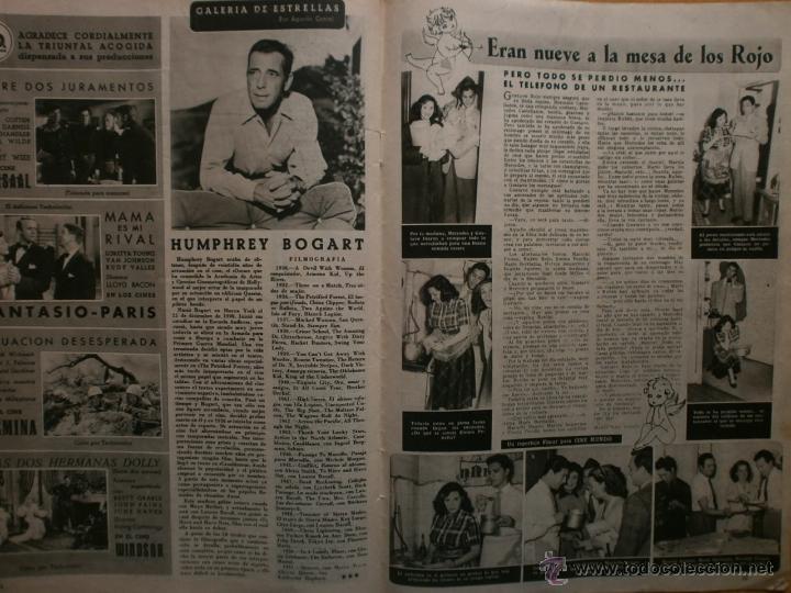Cine: CINE MUNDO Nº12 EXTRAORDINARIO DEDICADO A CANNES.1952.PAQUITA RICO.LOUIS JOURDAN,HUMPHREY BOGART. - Foto 10 - 41796331