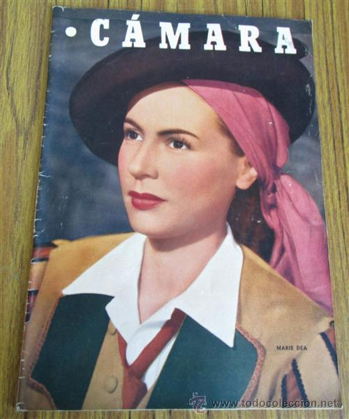 CAMARA - Nº 158 AÑO IX 1 AGOSTO 1949 - PORTADA MARIE DEA (Cine - Revistas - Cámara)