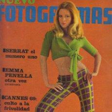 Cine: REVISTA NUEVO FOTOGRAMAS - Nº 1076 - AÑO 1969 - SERRAT- EMMA PENELLA - CANNES 69 - 47 PAGS. Lote 41874221