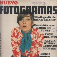 Cine: REVISTA NUEVO FOTOGRAMAS - Nº 1078 - AÑO 1969 - SONIA BRUNO - OMAR SHARIF - LOUIS DE FUNES - 47 PAGS. Lote 41875143