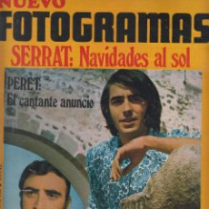 Cine: REVISTA NUEVO FOTOGRAMAS - Nº 1106 - AÑO 1969 - SERRAT- PERET- JOHN LENNON-G.CUERVO-F.GUILLEN-39 PAG. Lote 41937079