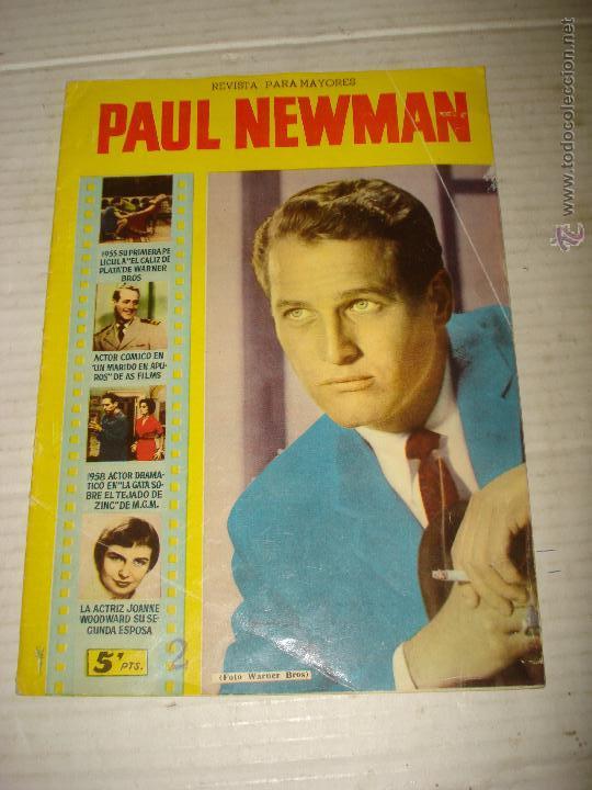 ANTIGUA REVISTA PARA MAYORES COLECCIÓN CINECOLOR CON PAUL NEWMAN - AÑO 1958 (Cine - Revistas - Cinecolor)