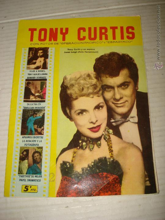 ANTIGUA REVISTA PARA MAYORES COLECCIÓN CINECOLOR CON TONY CURTIS - AÑO 1958 (Cine - Revistas - Cinecolor)