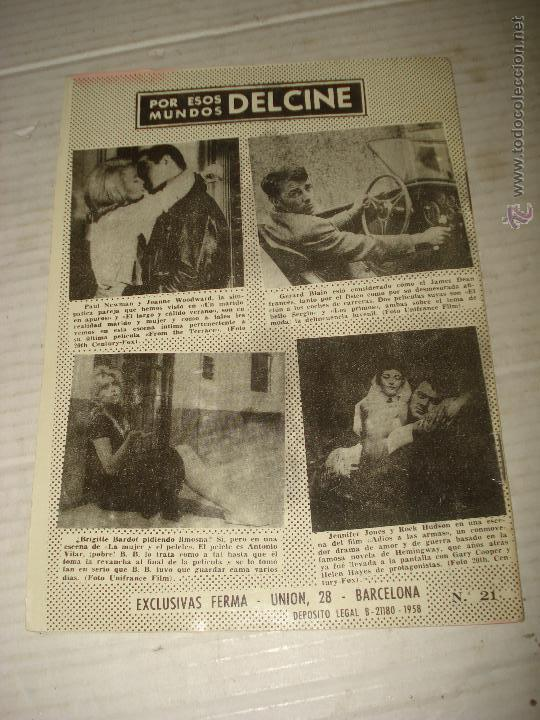 Cine: Antigua Revista para Mayores Colección CINECOLOR con TONY CURTIS - Año 1958 - Foto 2 - 41969858