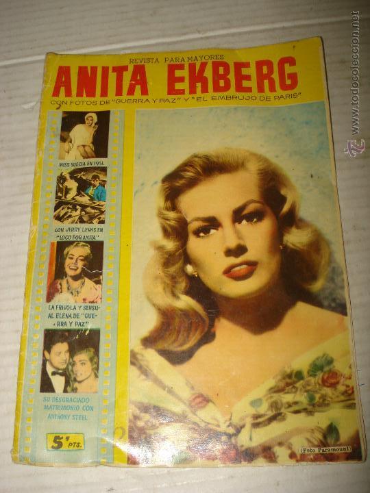 ANTIGUA REVISTA PARA MAYORES COLECCIÓN CINECOLOR CON ANITA EKBERG - AÑO 1958 (Cine - Revistas - Cinecolor)