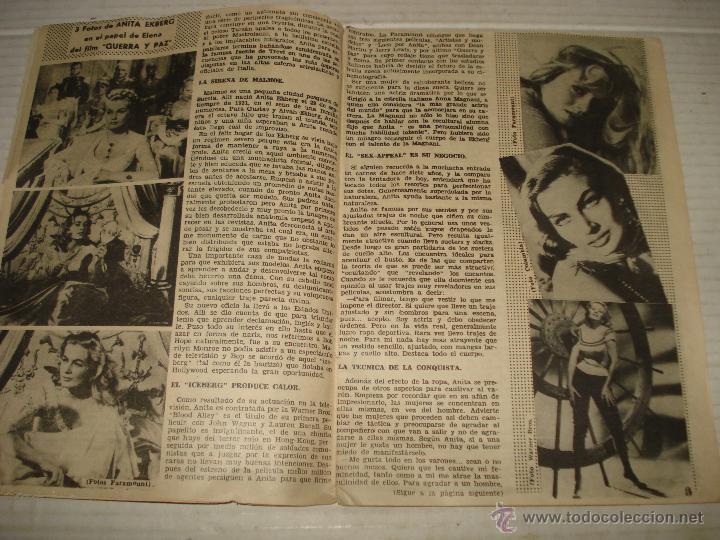 Cine: Antigua Revista para Mayores Colección CINECOLOR con ANITA EKBERG - Año 1958 - Foto 3 - 41969908
