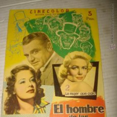 Cine: ANTIGUA REVISTA PARA MAYORES COLECCIÓN CINECOLOR CON EL HOMBRE DE LAS MIL CARAS - AÑO 1958. Lote 41970096