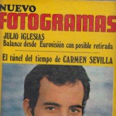 Cine: REVISTA NUEVO FOTOGRAMAS - Nº 1147 - AÑO 1970 -J.IGLESIAS-C.SEVILLA-CHARO LOPEZ-FEST.SITGES- 39 PAG.. Lote 42048735