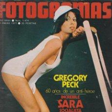 Cine: REVISTA NUEVO FOTOGRAMAS - Nº 1474 - AÑO 1977-SARA MONTIEL-G.PECK-N.ESPERT-47 PAG.. Lote 42127326