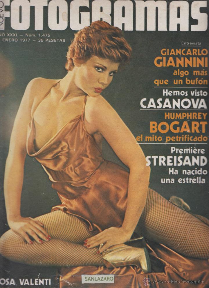 REVISTA NUEVO FOTOGRAMAS - Nº 1475 - AÑO 1977- ROSA VALENTI- B.STREISAND-H.BOGART- 47 PAG. (Cine - Revistas - Fotogramas)