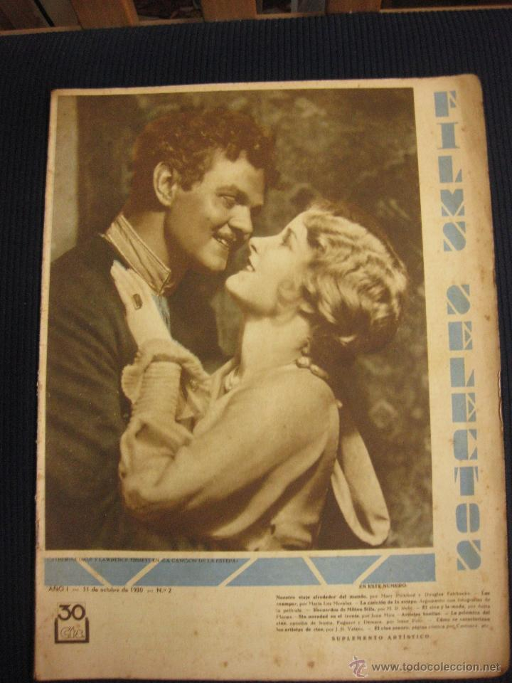 Cine: FILMS SELECTOS Nº 2. 11 OCT. 1930.CATHERINE DALE Y LAWRENCE TIBBETT.CLARA BOW. - Foto 1 - 42164924