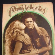 Cine: FILMS SELECTOS Nº 53.17 OCT. 1933. SUPLEMENTO ARTISTICO LUANA ALCAÑIZ.. Lote 42164990