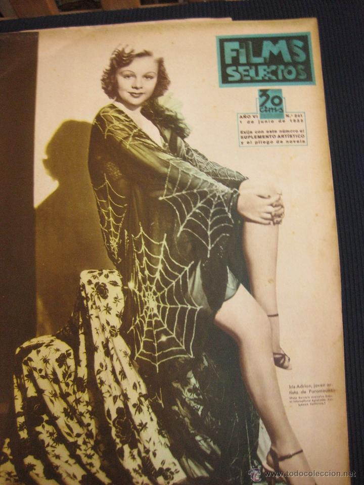 FILMS SELECTOS Nº 241. 1 JUNIO 1935.RAQUEL MELLER. SUPLEMENTO ARTISTICO ANNE SHIRLEY. (Cine - Revistas - Films selectos)
