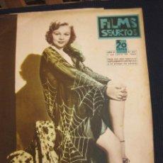 Cine: FILMS SELECTOS Nº 241. 1 JUNIO 1935.RAQUEL MELLER. SUPLEMENTO ARTISTICO ANNE SHIRLEY.. Lote 42165061
