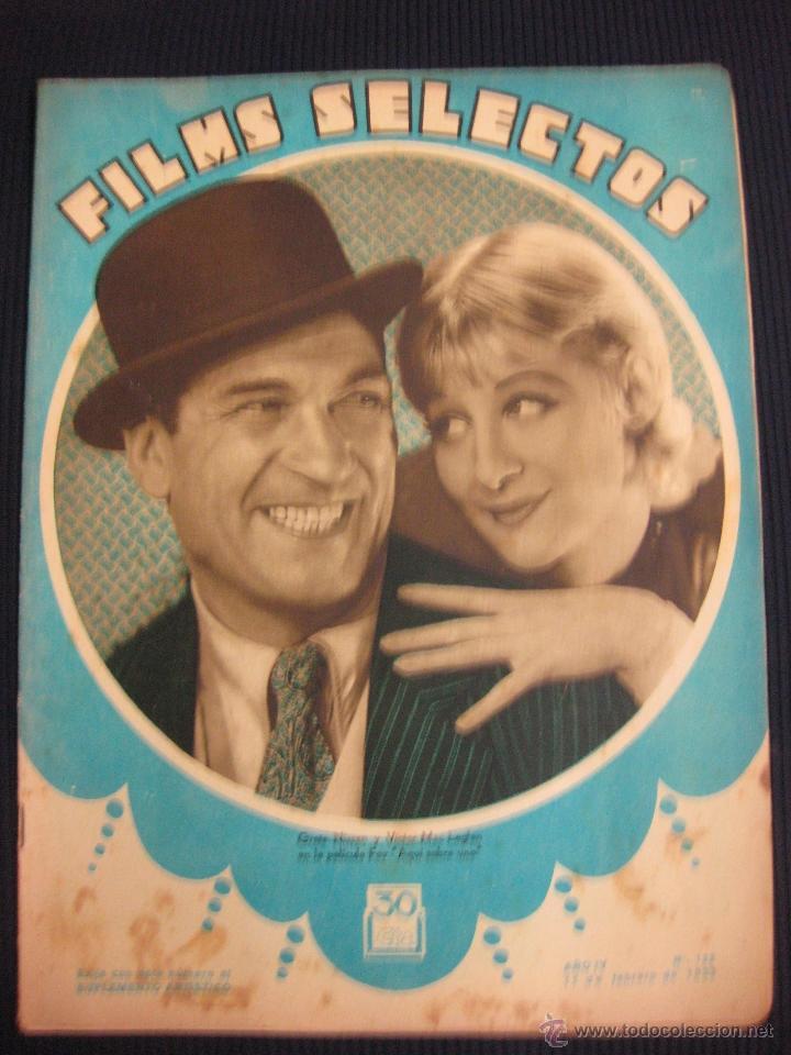 FILMS SELECTOS Nº 122. 11 FEB.1933.SUPLEMENTO ARTISTICO EL SIGNO DE LA CRUZ. (Cine - Revistas - Films selectos)