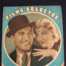 Cine: FILMS SELECTOS Nº 122. 11 FEB.1933.SUPLEMENTO ARTISTICO EL SIGNO DE LA CRUZ.. Lote 42165127