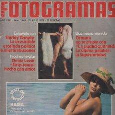 Cine: REVISTA NUEVO FOTOGRAMAS- Nº1449 - AÑO 1976-SHIRLEY TEMPLE-NADIA-XAVIER ELORRIAGA-47 PAG.. Lote 42236809