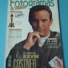 Cine: FOTOGRAMAS & VIDEO. PORTADA KEVIN COSTNER. ABRIL 1991. Lote 42295548