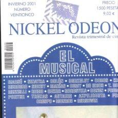 Cine: NICKEL ODEON REVISTA TRIMESTRAL DE CINE Nº 25 DEDICADA AL MUSICAL. Lote 243268305