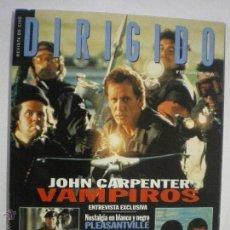 Cine: REVISTA DIRIGIDO POR-Nº274-DIC. 1998-ESTUDIO:HATAWAY/CARPENTER/GUÉDIGUIAN/ZWICK/WARD/MANKIEWICZ. Lote 42380834