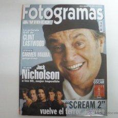 Cine: REVISTA FOTOGRAMAS NÚMERO 1854 - ABRIL 1998 JACK NICHOLSON. Lote 42406068