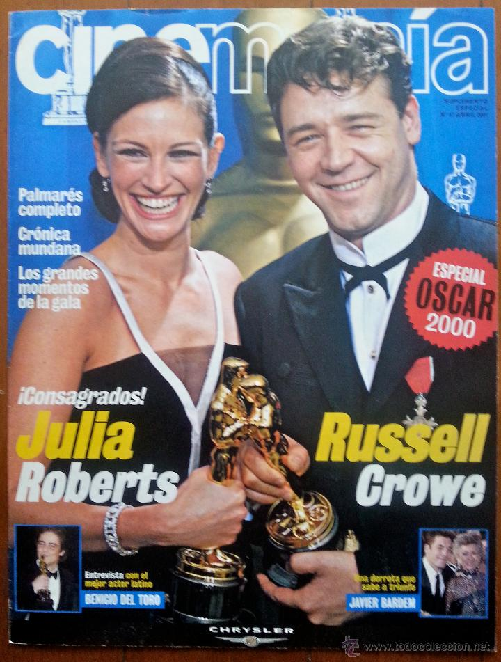 SUPLEMENTO ESPECIAL OSCAR 2000 DE LA REVISTA CINEMANÍA Nº 61 ABRIL 2001. JULIA ROBERTS-RUSSELL CROWE (Cine - Revistas - Cinemanía)