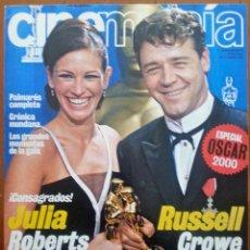 Cine: SUPLEMENTO ESPECIAL OSCAR 2000 DE LA REVISTA CINEMANÍA Nº 61 ABRIL 2001. JULIA ROBERTS-RUSSELL CROWE. Lote 42431058