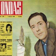 Cine: REVISTA ONDAS - Nº 193 - BODA CARMEN SEVILLA - FALLA DE VALENCIA - VER FOTOS - AÑO 1961 - . Lote 42467449