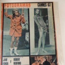 Cine: REVISTA FOTOGRAMAS Nº 969 - 1967 - JANE FONDA (PORTADA) - ROBERT REDFORD LOS BRAVOS. Lote 42560057
