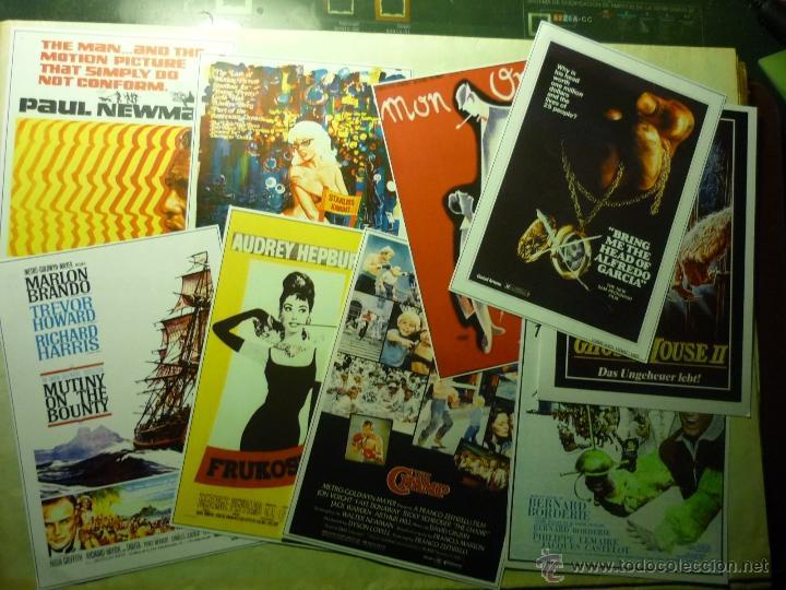 LOTE REPRODUCCIONES PAPEL CARTELES EXTRANJEROS PELICULAS (Cine - Reproducciones de carteles, folletos...)