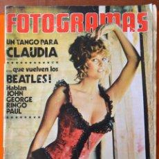 Cine: FOTOGRAMAS Nº 1281 - MAYO 1973 - CLAUDIA CARDINALE - BEATLES - HABLAN GEORGE PAUL RINGO Y JOHN LENON. Lote 43352907