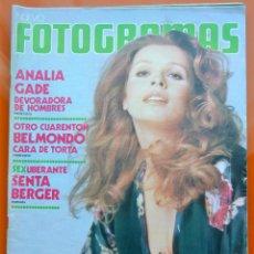 Cine: FOTGRAMAS Nº 1283 - MAYO 1973 - ANALIA GADE - BELMONDO - SENTA BERGER - PEDRO OLEA. Lote 43388408
