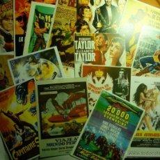 Cine: LOTE REPRODUCCIONES CARTELES ESPAÑOLES Y EXTRANJEROS PELICULAS AVENTURAS EN PAPEL Y FOTO-. Lote 43460388