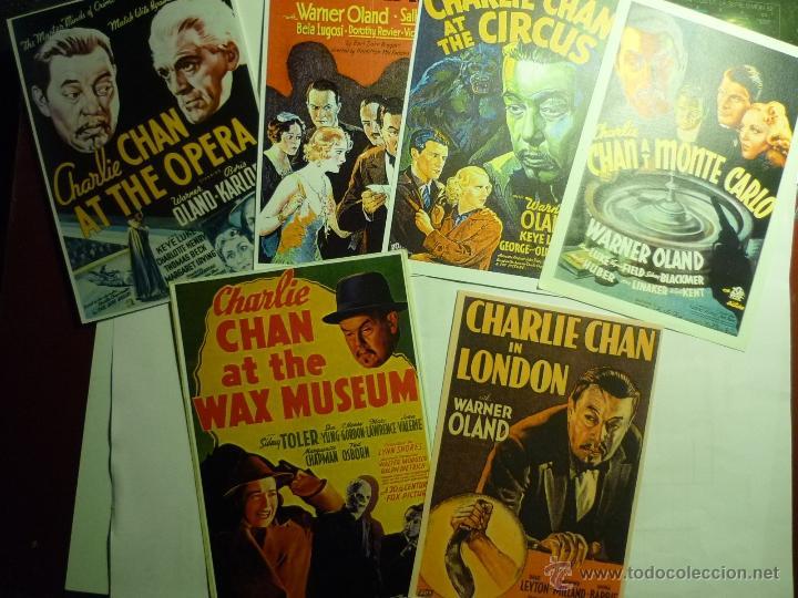 LOTE REPRODUCCIONES CHARLIE CHAN,.-CARTELES EXTRANJEROS- EN PAPEL (Cine - Reproducciones de carteles, folletos...)