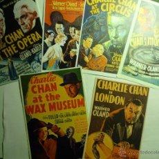Cine: LOTE REPRODUCCIONES CHARLIE CHAN,.-CARTELES EXTRANJEROS- EN PAPEL. Lote 43460704