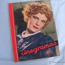 Cine: CINE. REVISTA CINEGRAMAS, ELISSA LANDI. AÑO 1934. Lote 43483147