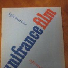 Cine: UNIFRANCE FILM BULLETIN MENSUEL Nº 23 - 1953. Lote 43615132