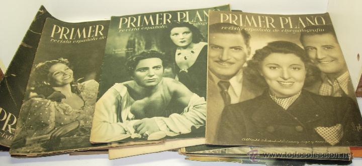 LOTE 24 REVISTAS CINE PRIMER PLANO REVISTA ESPAÑOLA DE CINEMATOGRAFIA AÑOS 40 (Cine - Revistas - Primer plano)